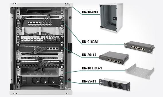 DIGITUS Netzwerk-Set 254 mm (10