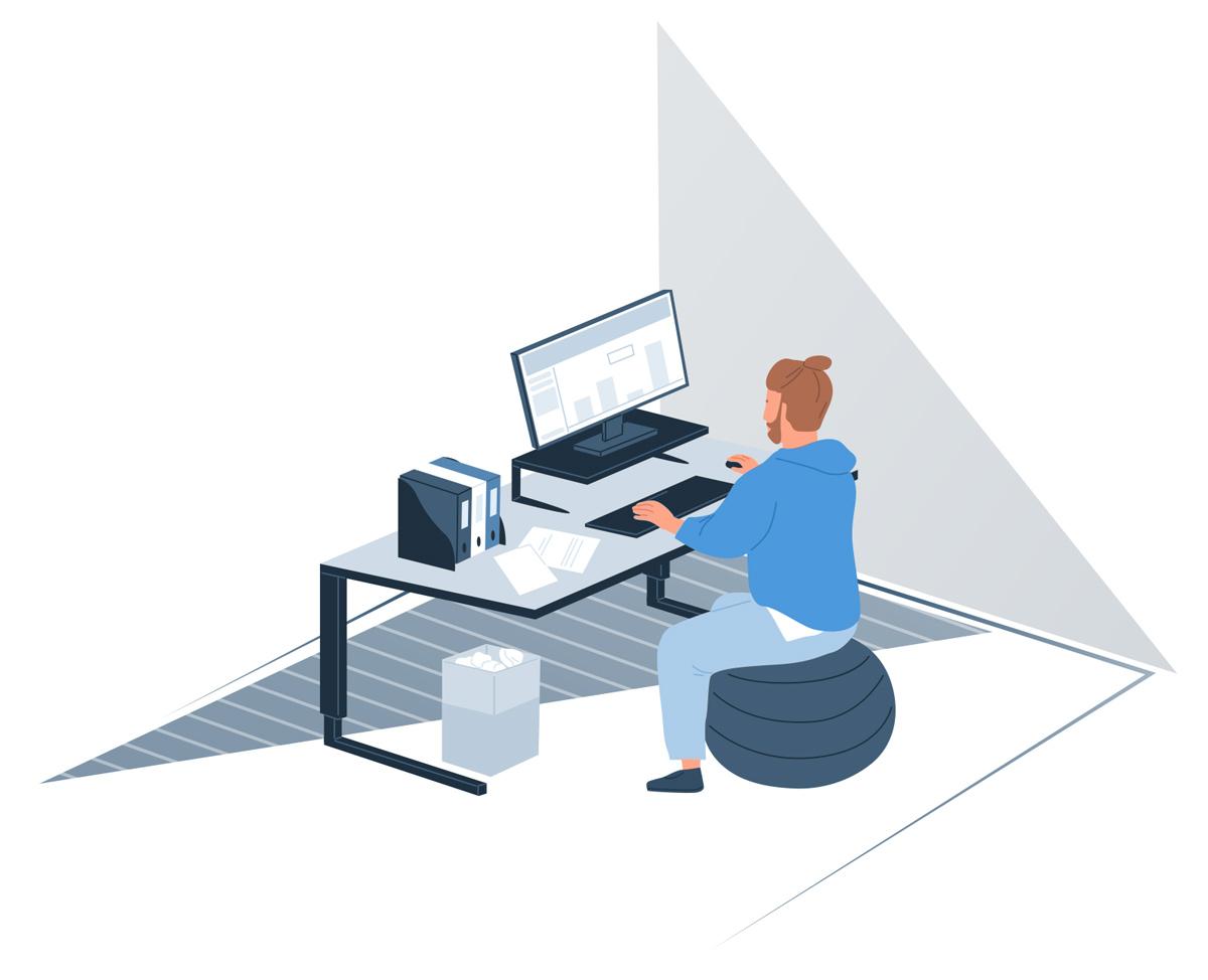 Home Office - Ergonomisches Arbeiten