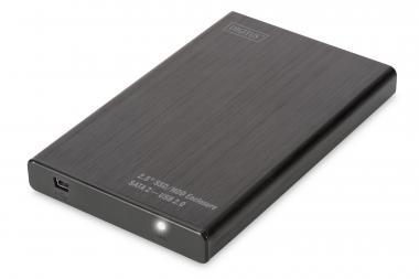 2.5 SSD/HDD Enclosure, SATA I-II - USB 2.0