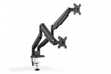 Universal Dual Monitor Mount with Gas Spring and Clamp Mount