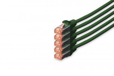 CAT 6 S/FTP patch cord, 5 units