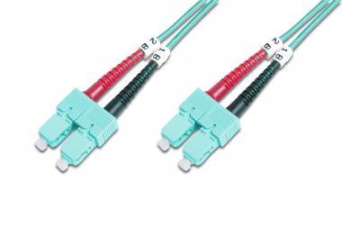 Fiber Optic Multimode Patch Cord, OM 3, SC / SC