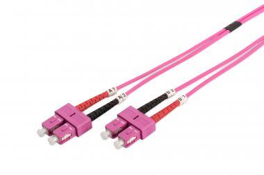 Fiber Optic Multimode Patch Cord, OM4, SC / SC