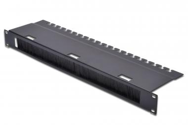 """Cable Management Panel with Brush Strip for 483 mm (19"""") Cabinets, 1U"""