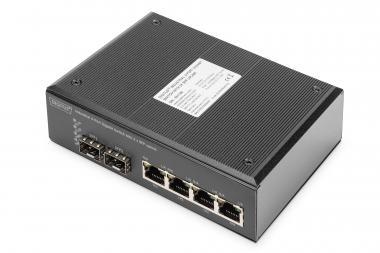 Industrial 4 Port Gigabit Switch, Unmanaged, 2 Uplinks