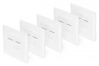 CAT 6, Class E, wall outlet, flush mount