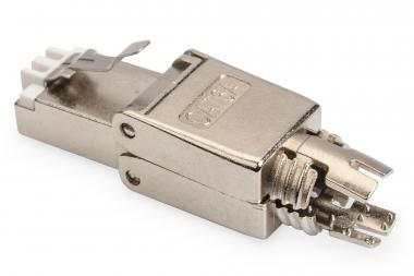 CAT 6A Field Termination Plug, shielded, tool-free mounting connection