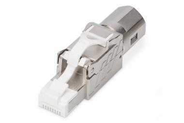 CAT 8.I Field Termination Plug, Shielded, Tool-free