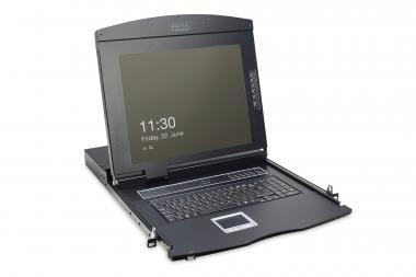 "Modular console with 17"" TFT (43,2cm), 16-port KVM & Touchpad, UK keyboard"