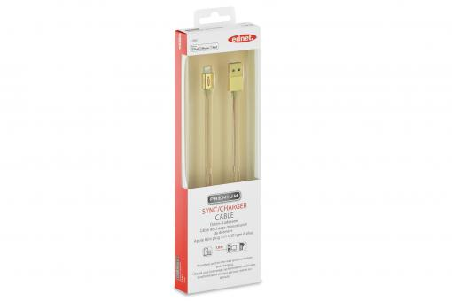 iPhone® Lightning-USB Sync/Charger Cable, gold
