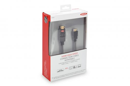 Premium HDMI High Speed Ethernet cable, rotatable