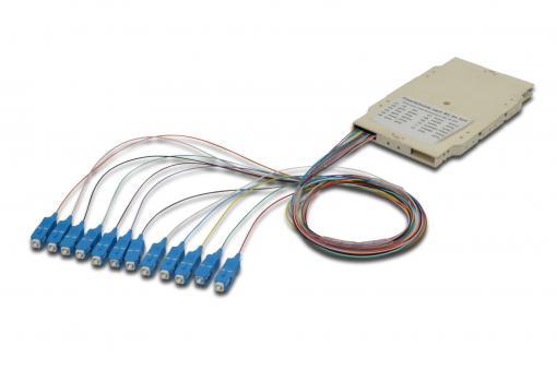 Spleißkassette mit 12 Pigtails; vormontiert