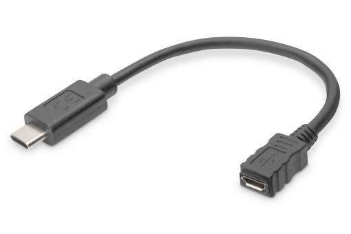 USB Type-C™ Adapterkabel, Typ-C™ auf mikro B