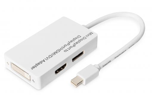Mini DisplayPort Adapter - DisplayPort, HDMI + DVI