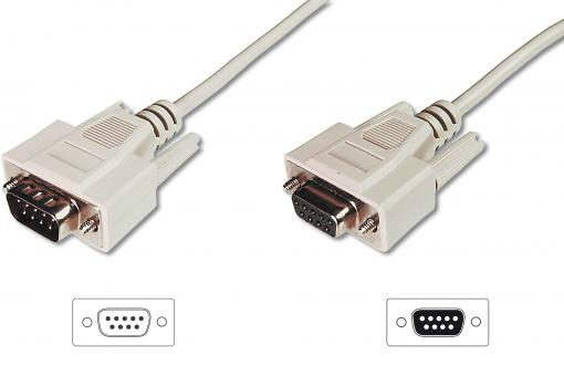 Datatransfer extension cable, D-Sub9/M - D-Sub9/F