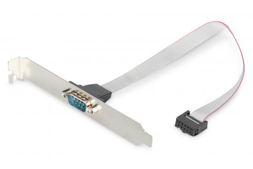 Serial Slot Bracket adapter cable, D-Sub9/M - IDC 2x5pin/F