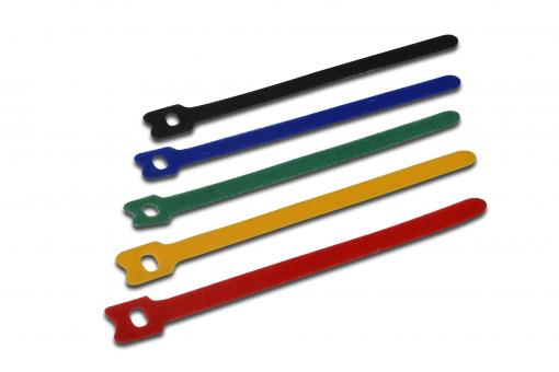 Cable tie set, hook-and-loop fastener, different colors