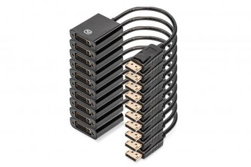 DisplayPort – DVI Adapter / Converter, Pack of 10 pcs