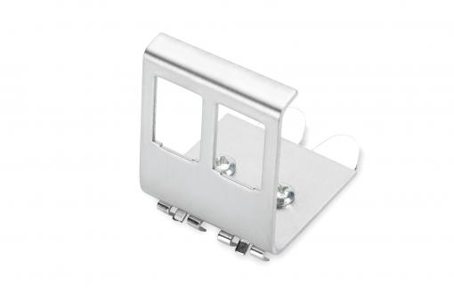 DIN-Rail Adapter for 2x Keystone module