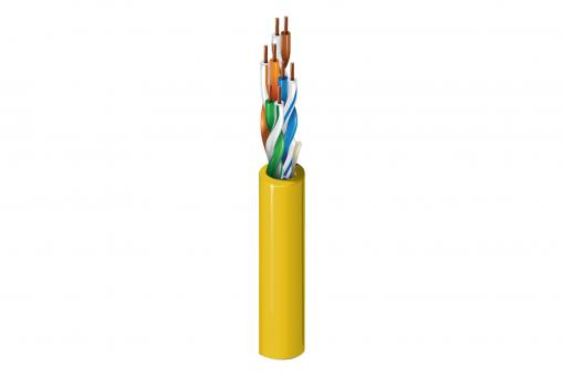 Kabel instalacyjny BELDEN kat.5e, U/UTP, Eca, AWG 24/1, PVC, 305m, żółty, karton