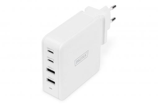 4-Port Universal USB Charging Adapter, USB-C™ / USB A, 100 W