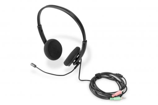 On Ear Office Headset mit Geräuschreduzierung, 3,5 mm Stereo