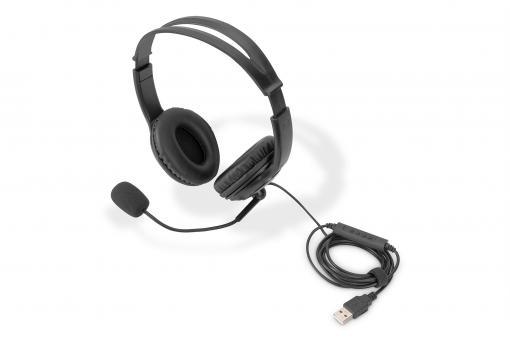 On Ear Office Headset mit Geräuschreduzierung, USB