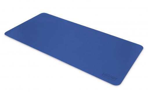 Schreibtischunterlage / Mauspad (90 x 43 cm), blau / braun