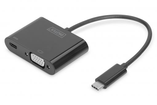 USB Type-C™ VGA Grafik-Adapter + USB-C™ (PD)