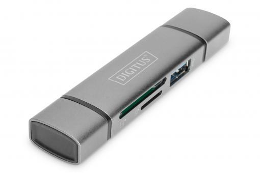 Podwójny czytnik kart hub USB-C™ / USB 3.0, OTG