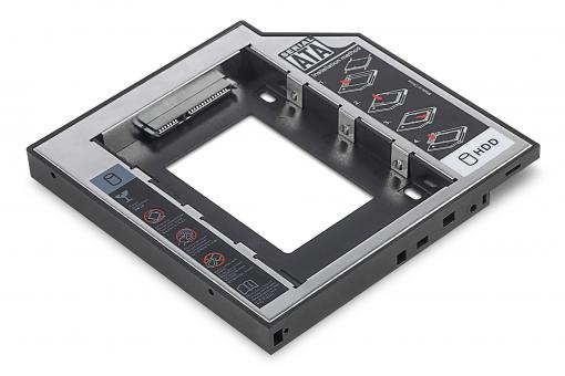 SSD/HDD Installation Frame for CD/DVD/Blu-ray drive slot, SATA to SATA III, 12.7 mm installation height