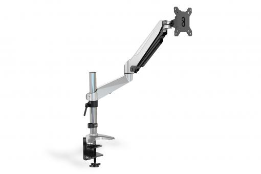 Universal Single Monitor Mount with gas spring and clamp mount
