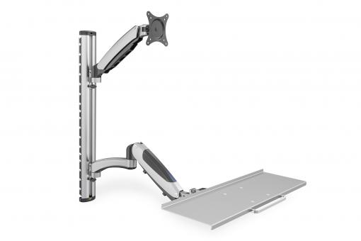 Flexible wall mount for workspaces