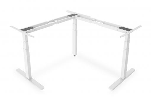 Electric height-adjustable stand/ sit desk frame, 90° angle-shaped (L-shaped)