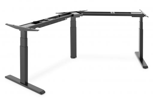 Electric Height-Adjustable Desk Frame, 120° Corner Design