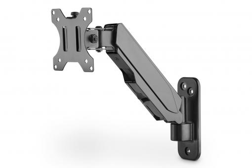 Universal Single Monitor Mount with Gas Spring, Wall Mount