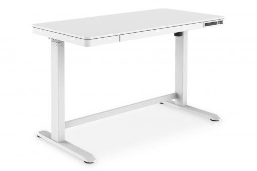 Electric Height-Adjustable Desk with USB-Charger and Drawer