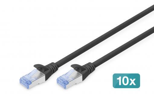 CAT 5e SF/UTP patch cord, 10 pieces