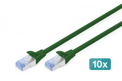 CAT 5e SF/UTP patch cord, 10 pieces