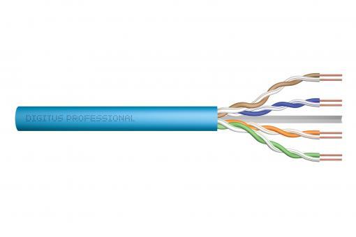 Kabel instalacyjny kat.6A, U/UTP, Dca, AWG 23/1, LSOH, 50m, niebieski