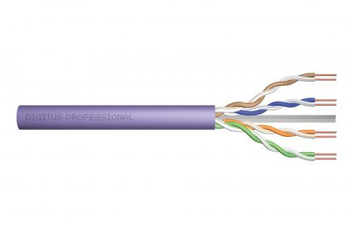Kabel instalacyjny kat.6, U/UTP, Dca, AWG 23/1, LSOH, 50m, fioletowy