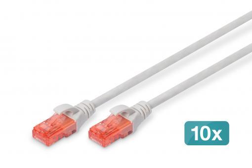 Kabel połączeniowy CAT 6 U/UTP - LSZH, 10 sztuk