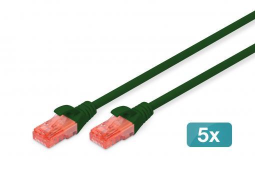 CAT 6 U/UTP patch cord - LSZH, 5 pieces
