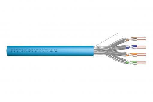 Kabel instalacyjny DIGITUS kat.6A, U/FTP, Eca, AWG 23/1, LSOH, 100m, niebieski, karton