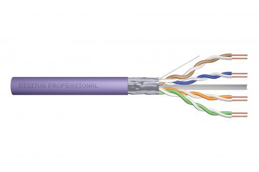 Kabel instalacyjny DIGITUS kat.6, F/UTP, B2ca, AWG 23/1, LSOH, 500m, fioletowy, szpula