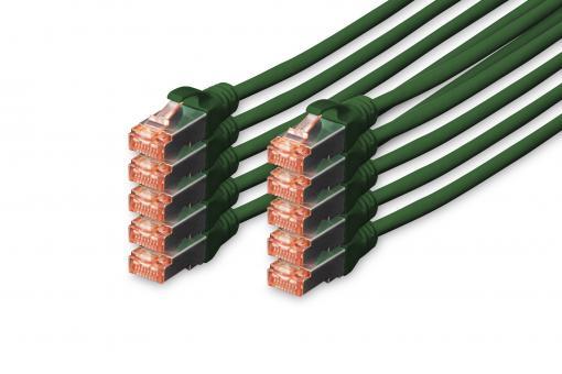 CAT 6 S/FTP patch cord, 10 units