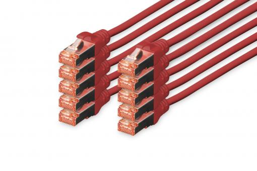 CAT 6 S/FTP patch cord, 10 units