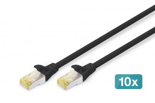 CAT 6A S/FTP patch cord, 10 pieces