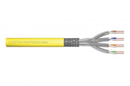 Kabel instalacyjny DIGITUS kat.7A, S/FTP, Dca, AWG 22/1, LSOH, 100m, żółty