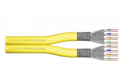 Cat.7A S/FTP, installation cable, 500 m, duplex, Dca
